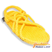 Classic Neptune Yellow Rope Sandals
