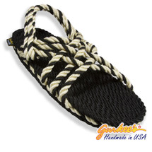 Signature Neptune Black & Natural Rope Sandals