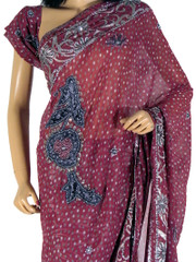 Bollywood Party Saree Designer Magenta Cocktail Dress