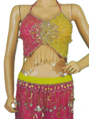 Multicolor Belly Dance Dress Wear Costume Wrap Skirt Exciting Coin Work Outfit S