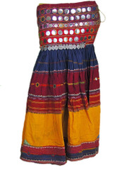 Long Authentic Banjara Skirt Handmade Indian Vintage Belly Dancing Costume M