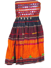 Traditional Banjara Long Skirt Belly Dancer Dress Mirror Belt Costume Attire S