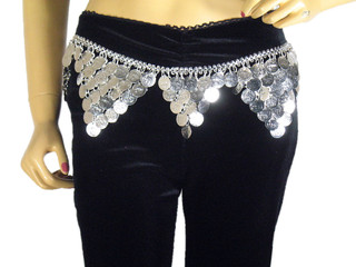 Belly Dance Wear Belt Gypsy Hippie Metal Chain Hip Fringe Clothing Accessory