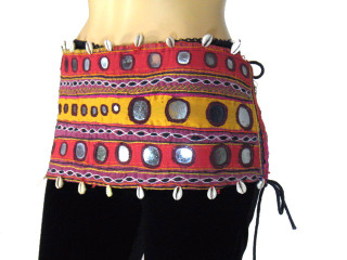 Vintage Womens Bellydancer Tribal Wear Hip Belt Trim