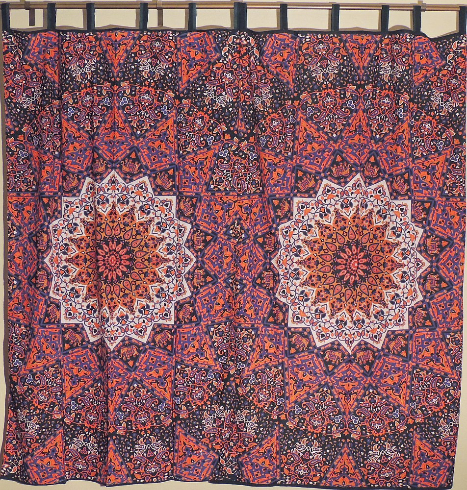 Stylish Living Room Curtains Stylish Living Room Orange Indian Curtains With Block Printed