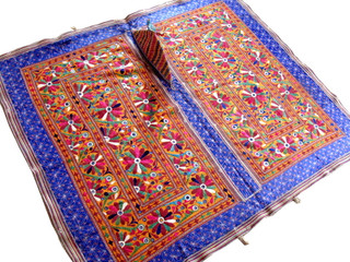 Exquisite Hand Embroidered Mirror Kutch Wall Tapestry