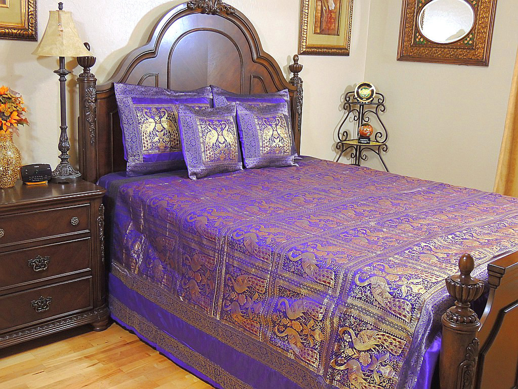 Peacock bedroom set - Peacock India Inspired Bedding Coverlet Duvet Bedroom Decor Bedspread Pillow Set