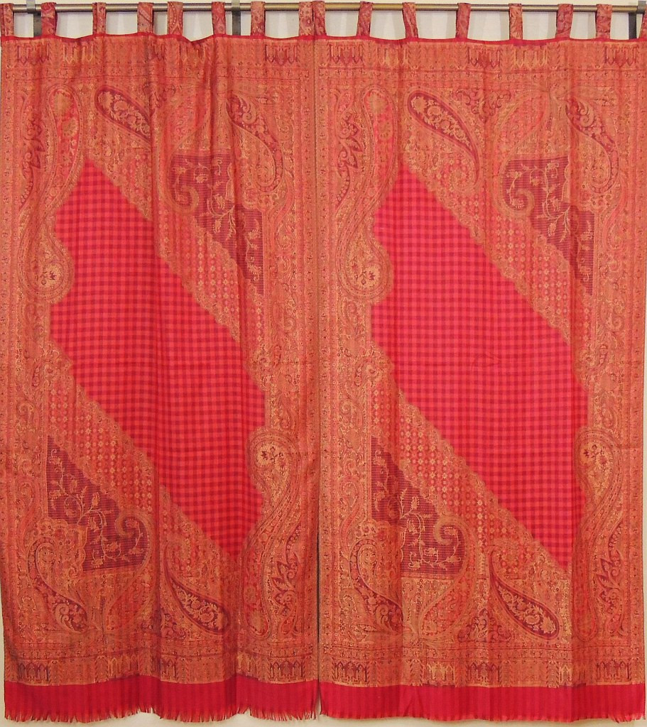 Designer Window Panels designer window treatments – paisley ethnic décor curtain panels