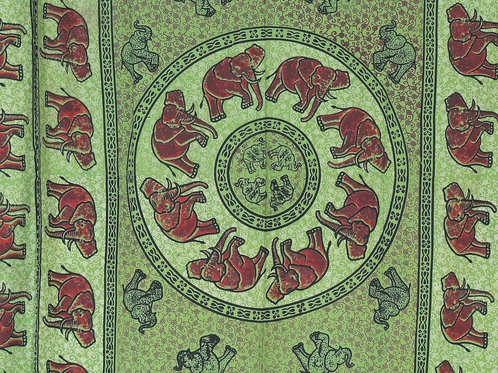 Green indian curtains - Green Cotton Curtains Elephant Block Print Indian Style Tab Top Panels Image 2 Image 3