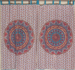Multicolor Floral Curtains - Cotton Print Indian Decorative Window Treatments