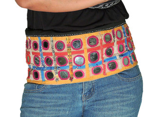 Belly Dance Apparel - Vintage Mirror Indian Tribal Cotton Belt