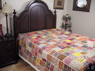 Embroidered Patchwork Bedspread Tapestry Rajasthan Ethnic Handmade India Bedding