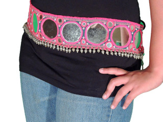 Tribal Belly Dance Belt - Large Mirror Work Fashion Dress Accessory ~ One Size
