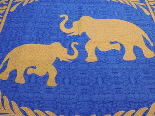 Bohemian Elephant Cotton Tapestry Decorative Indian Linens Bedding Flat Sheet