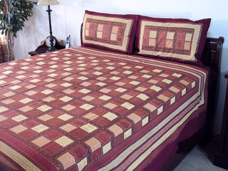 3P India Bedding Patola Bed Sheet Cotton Bedroom Decor