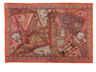 Russet Living Room Wall Hanging - Large Traditional Ethnic Indian Tapestry 60""