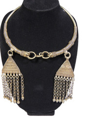 Inspired Handcrafted Banjara Jewelry – Ethnic Gypsy Neck Ring with Danglers