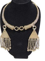 Vintage Handcrafted Banjara Neck Ring Jewelry – Pewter Metal Gypsy Necklace
