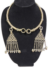 Pewter Metal Neck Ring Kuchi Handmade Jewelry - Belly Dance Necklace