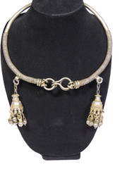 Neck Ring with Danglers Jewelry - Belly Dance Authentic Kuchi Necklace