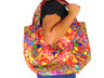 Embroidered Luxury Evening Handbag - Ladies Multicolor Ethnic Hobo Shoulder Bag