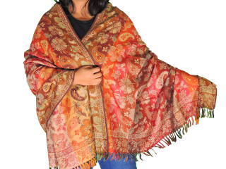 Multicolor Floral Wool Fashion Shawl - Evening Dress Winter Scarf Afghan 80""