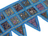 Blue Beautiful Door Topper Valance - Kundan Elegant Window Covering Toran 60""