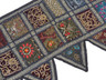 Black Beautiful Living Room Valance - Kundan Patchwork Elegant Window Toran 60""