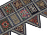 Black Beautiful Door Topper Valance - Kundan Elegant Window Covering Toran 60""