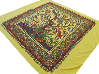 Beautiful Print Cotton Tapestry Tree of Life Bedding Bed Sheet Ethnic Bedroom