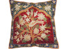 """Kashmir Tree of Life Cushion Cover - Crewel Embroidery Couch Pillow ~ 16"""""""
