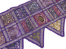 Purple Beautiful Door Topper Valance - Beaded Elegant Window Covering Toran 80""