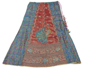 "Turquoise Peacock Bollywood Fashion Skirt ~ Full Length Clothing Dress 36"" Waist"