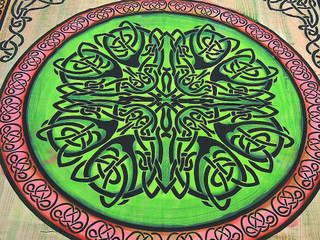 Bohemian Celtic Knot Tapestry Cotton Indian Bed Sheet Wall Hanging Couch Throw