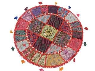 Large Round Floor Seating Cushion Pillow Cover Decorative Indian Ethnic Sham