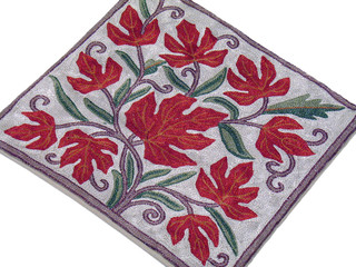 Embroidered Kashmir Pillow Decor Couch Accent Flower Decoration Cushion Cover