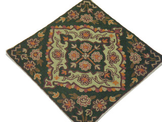 Embroidered Ethnic India Pillow Decor Accent Cushion Cover Kashmir Wool Crafts