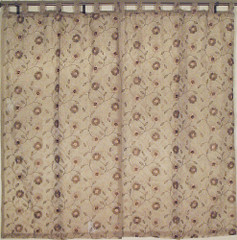 Brown Decorative Embroidery Curtains 2 Door Window Panels Treatments India 88in