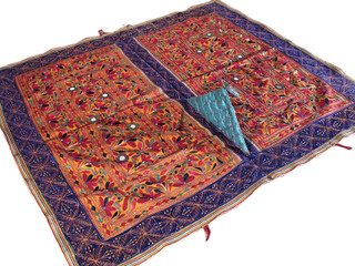 Banjara Rare Mirror Kutch Indian Wall Hanging Tapestry