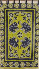 Elephant Tapestry Cotton Fabric Print Large Decorative India Wall Hanging Decor