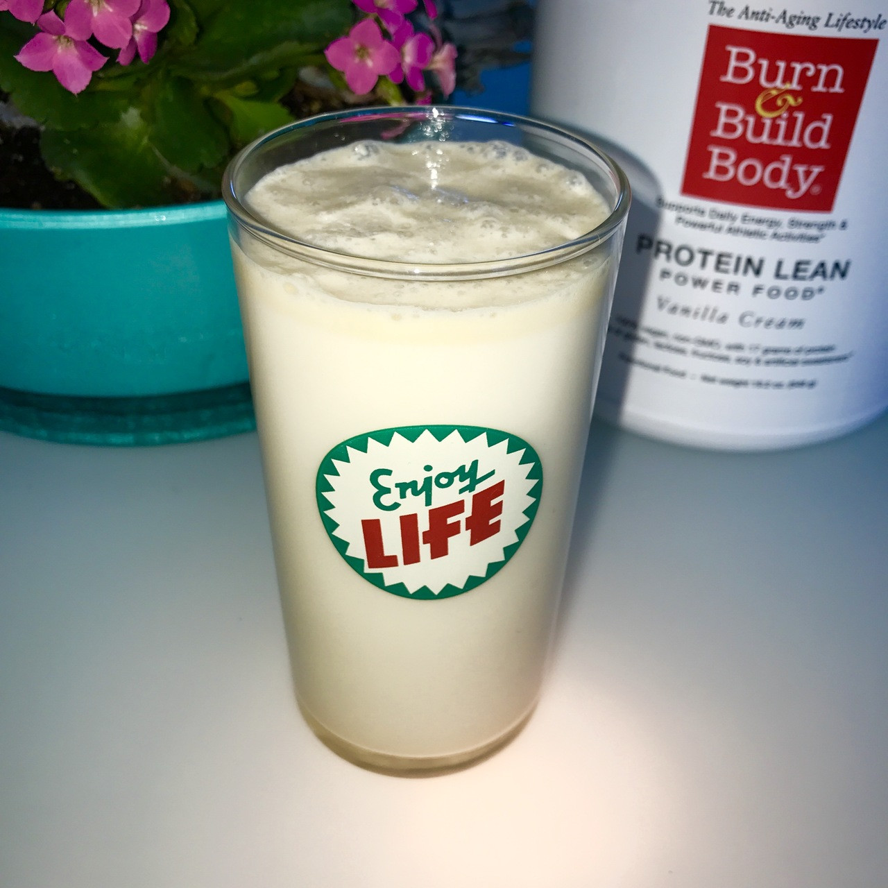 Really vanilla, Protein Lean Vanilla Cream, almond milk... just shake it  up and recharge your body.