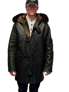 Men Shearling Duffle Coat - ISO NEW YORK