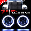 7 Inch Halo Projector Black LED Headlights Set