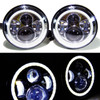 7 Inch Halo Projector Chrome LED Headlights Set