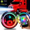 7 Inch HALO RGB Chasing Projector LED Headlights Set