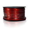 100ft 4AWG Power Cable Wire 4 Gauge Clear Red