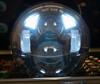 5.75 (5 3/4) Inch LED Black  Projector Motorcycle Headlight Round