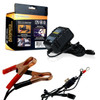 12V Battery charger with battery clips and battery terminal spades