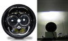 5.75 (5 3/4) Inch LED Black Projector Headlights Round DOT Set
