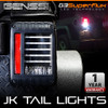 Black LED Tail Lights For Jeep Wrangler JK 2007-2017